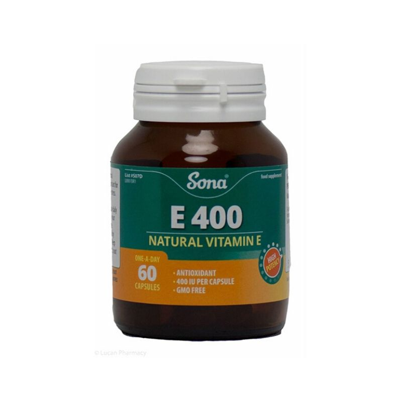Sona Natural Vitamin E 400 IU 60S