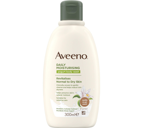 Aveeno Daily Moisturising Yogurt Body Wash Vanilla & Oat