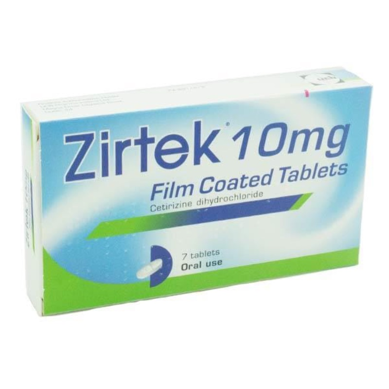 Zirtek Allergy Relief 10 Mg Film-coated Tablets 7Pk