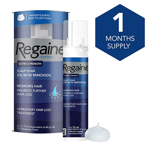Regaine For Men Extra Strength Scalp Foam 5% W/w Cutaneous Foam Single
