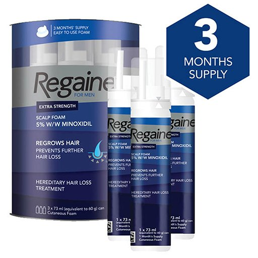 Regaine For Men Extra Strength Scalp Foam 5% W/w Cutaneous Foam 3Pk