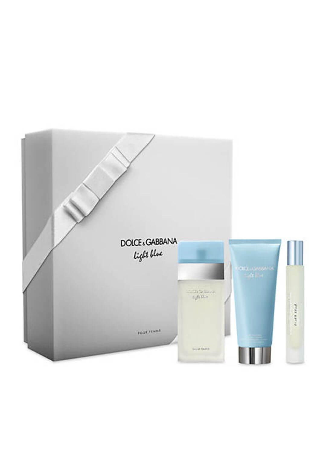 Dolce And Gabbana Light Blue Gift Set Eau De Toilette 50ML 3 Piece