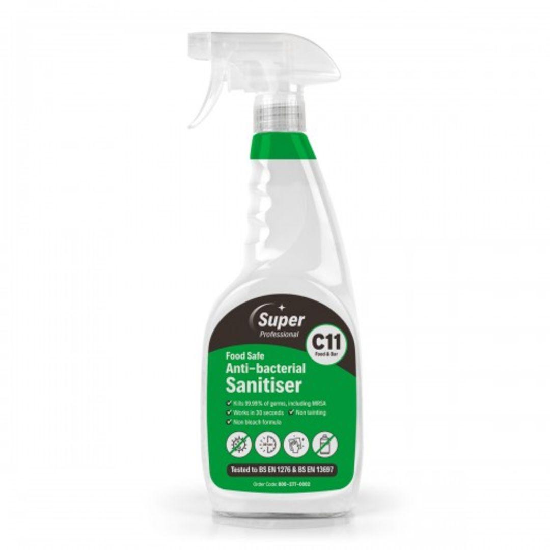 C11 Food Safe Anti-Bacterial Sanitiser (1 X 750ml)