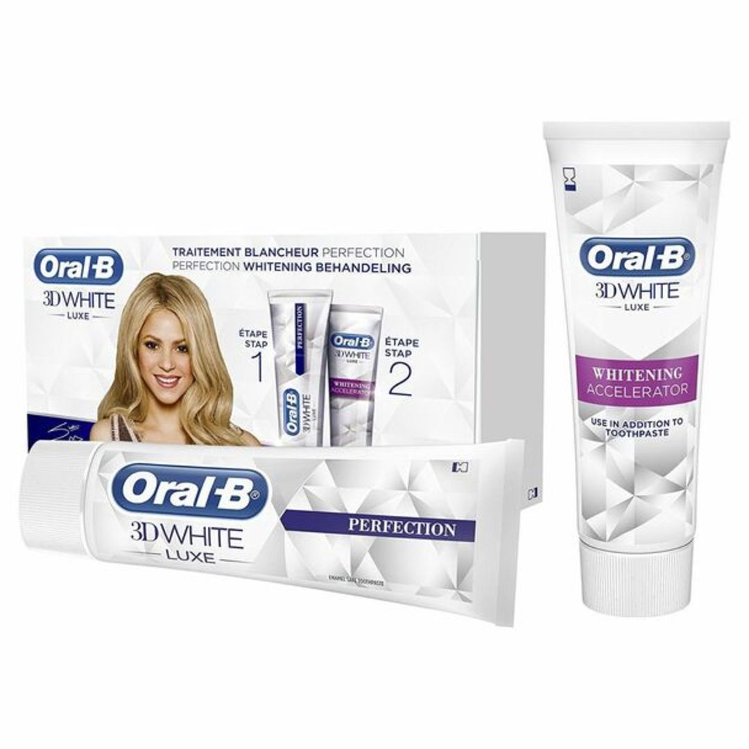Oral-B 3D White Lux Perfection Teeth Whitening Treatment Toothpaste Gift Set