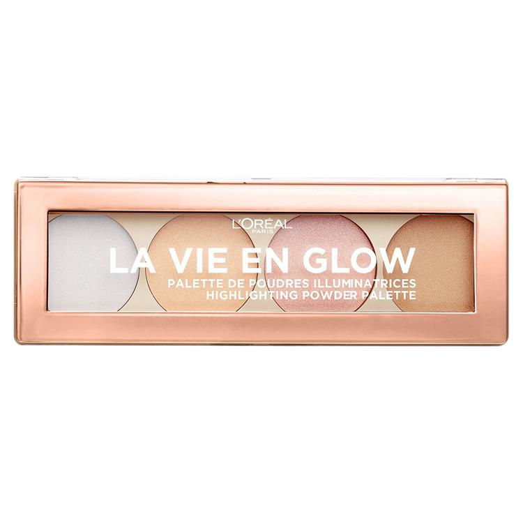 L'Oreal Paris La Vie En Glow Highlighting Powder Palette Cool Glow