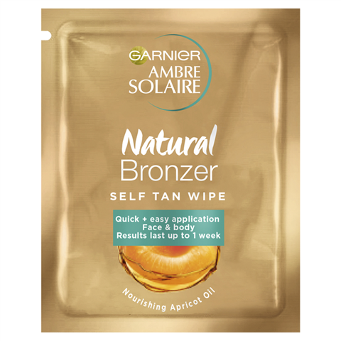 Ambre Solaire Natural Bronzer Easy Self Tan Face Wipes 5.6ml