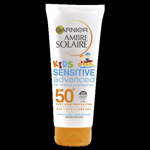 Ambre Solaire Kids Sensitive Water Resistant Sun Cream Protection Lotion SPF50+ 200ml