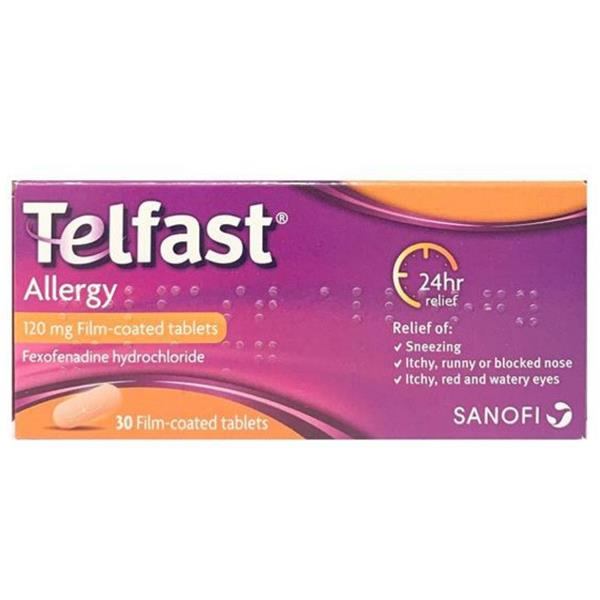 Telfast Allergy 120mg Film Coated Tablets 30Pk